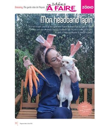 Idées a faire N°20 - Dressing - Headband lapin