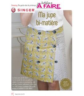Idées a faire N°20 - Dressing - Jupe Bi-matière